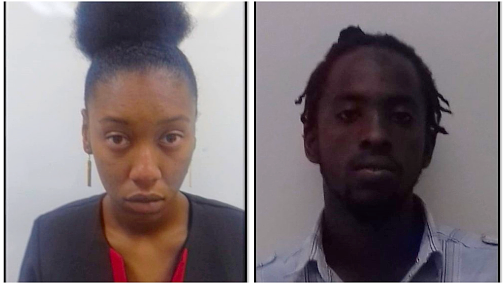 Photo L-R: Samuel Slocum and Shnyka Baptiste, courtesy the Trinidad and Tobago Police Service.