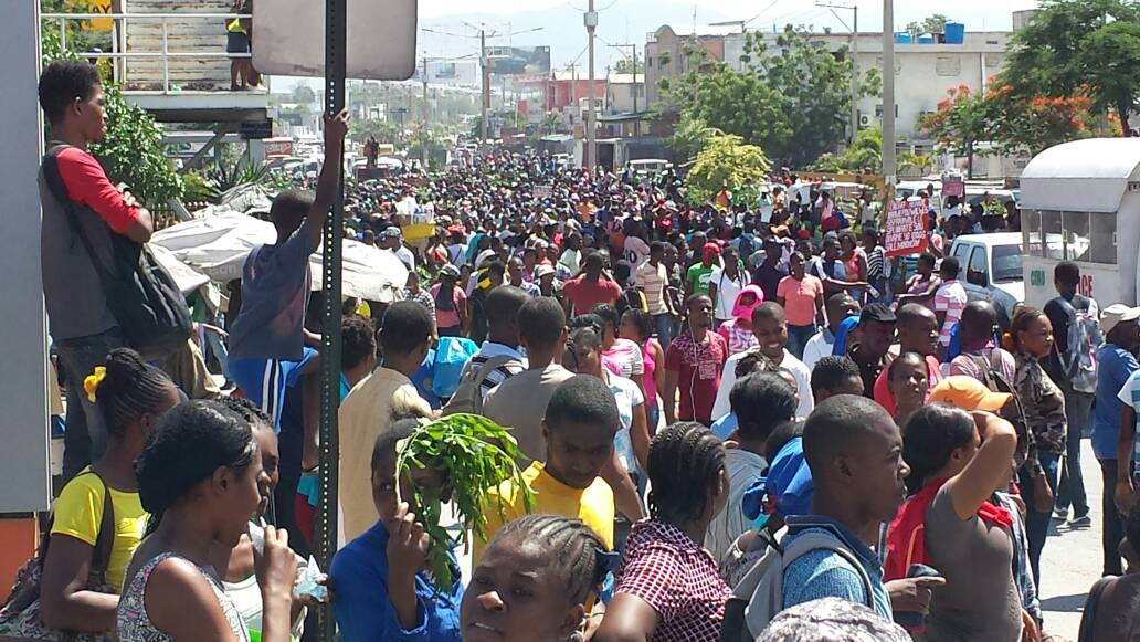 Les ouvriers ont gagné de Port-au-Prince aujourd'hui
