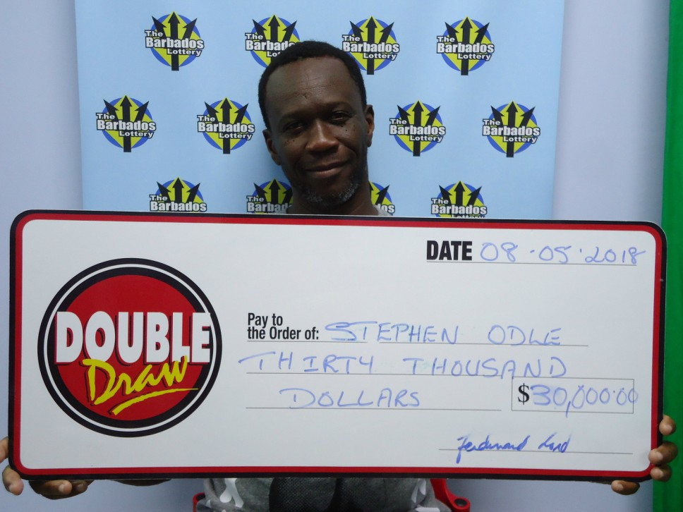 Barbados' newest Double Draw winner, Stephen Odle.