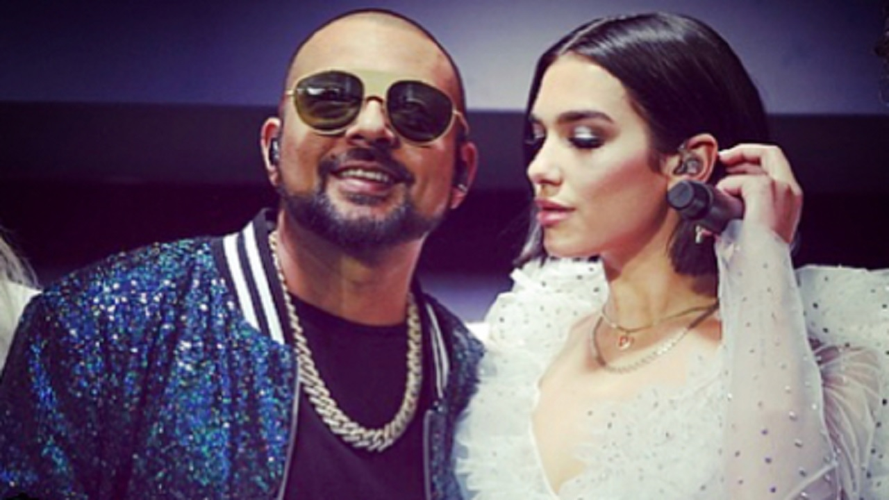 Sean Paul with Dua Lipa on Saturday.