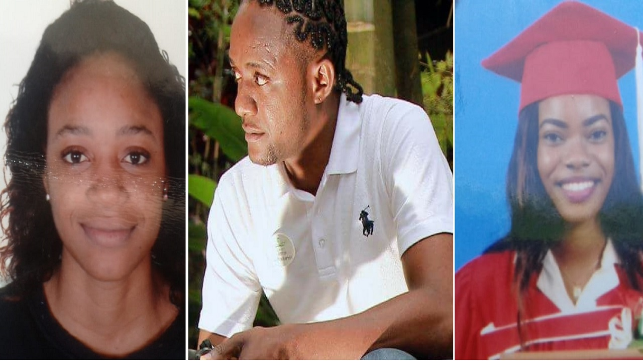 Three of the four victims of a two-bike crash in Sheffield, Westmoreland on Wednesday night. Left to right are Kadene Campbell, Everton Spence and Shakera Hawthorne.