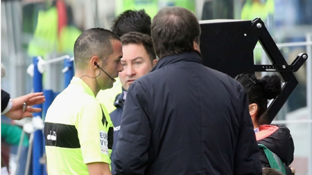 The video assistant referee (VAR) system is used in Italy's Serie A.