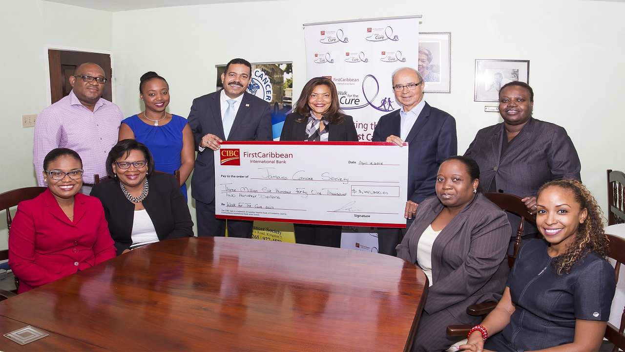 Launched in 2012, Walk For The Cure, one of the Caribbean's largest cancer fund raising initiatives, sees employees of CIBC FirstCaribbean and well-wishers across the 17 Caribbean countries in which CIBC FirstCaribbean operates, participating in scheduled walks.