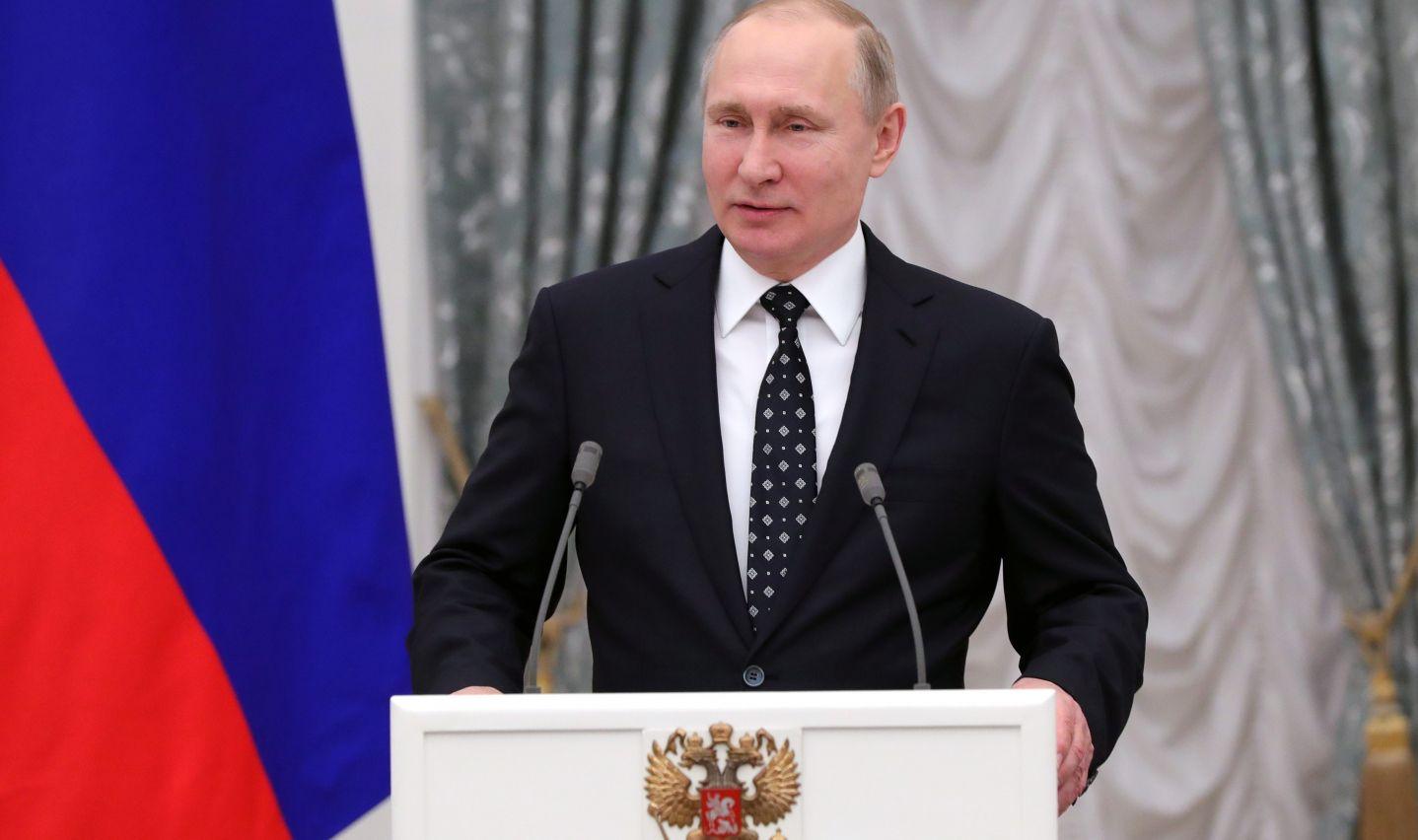 Vladimir Poutine a félicité lundi Nicolas Maduro pour sa réélection à la présidence du Venezuela.  (crédit photo : AFP)