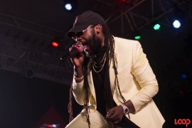 Tarrus Riley was a crowd favourite at the show. 