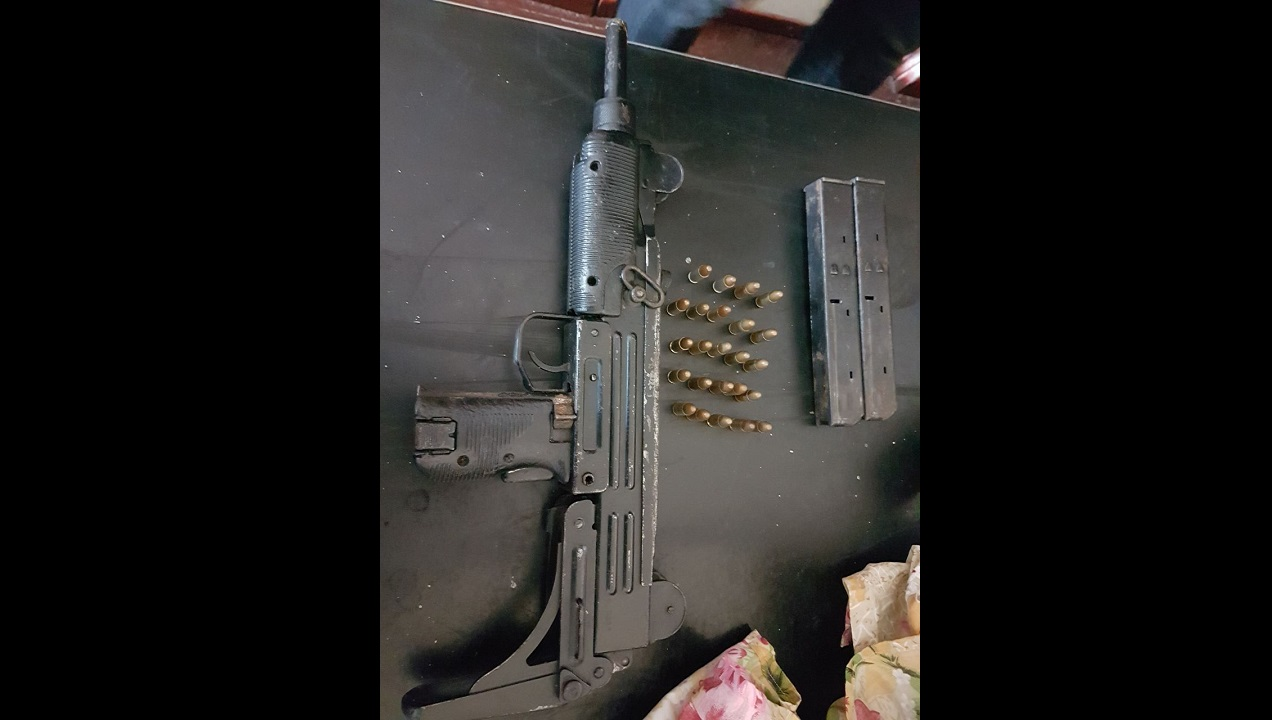 The sub machine gun seized in Westmoreland on Tuesday.