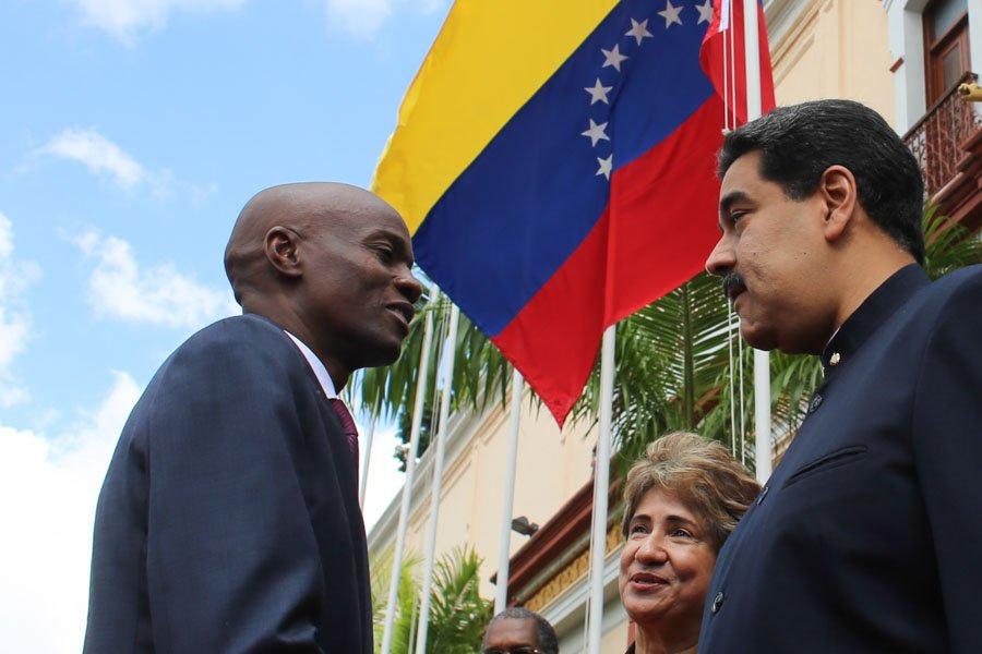 Le président haïtien Jovenel Moïse et le président vénézulien Nicolas Maduro. Photo: Venezuela Analysis