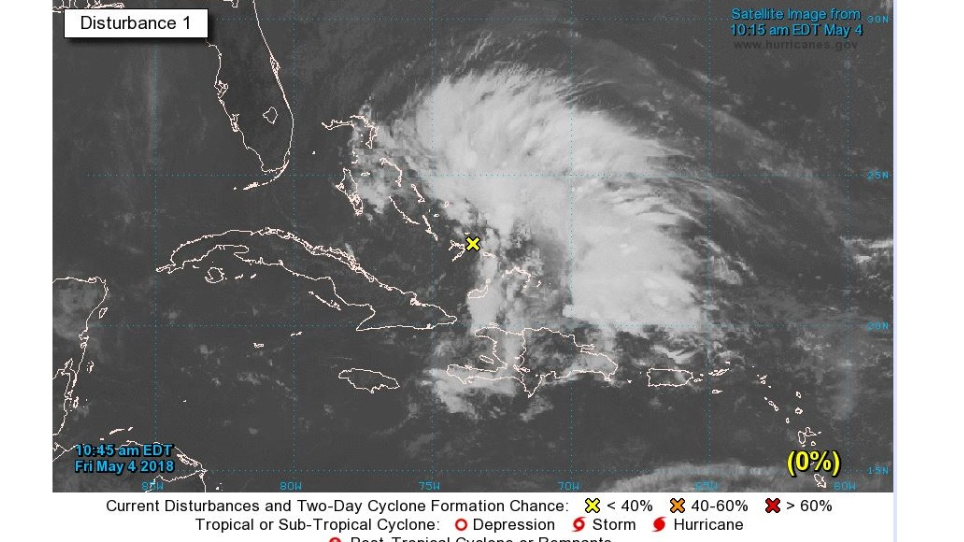 Hurricane center issues special forecast for system near Bahamas