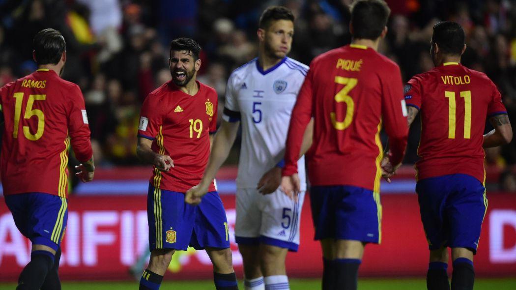 En conférence de presse ce lundi, le sélectionneur Julen Lopetegui a dévoilé la liste de 23 joueurs espagnols convoqués pour la Coupe du monde 2018. (crédit photo : AFP)
