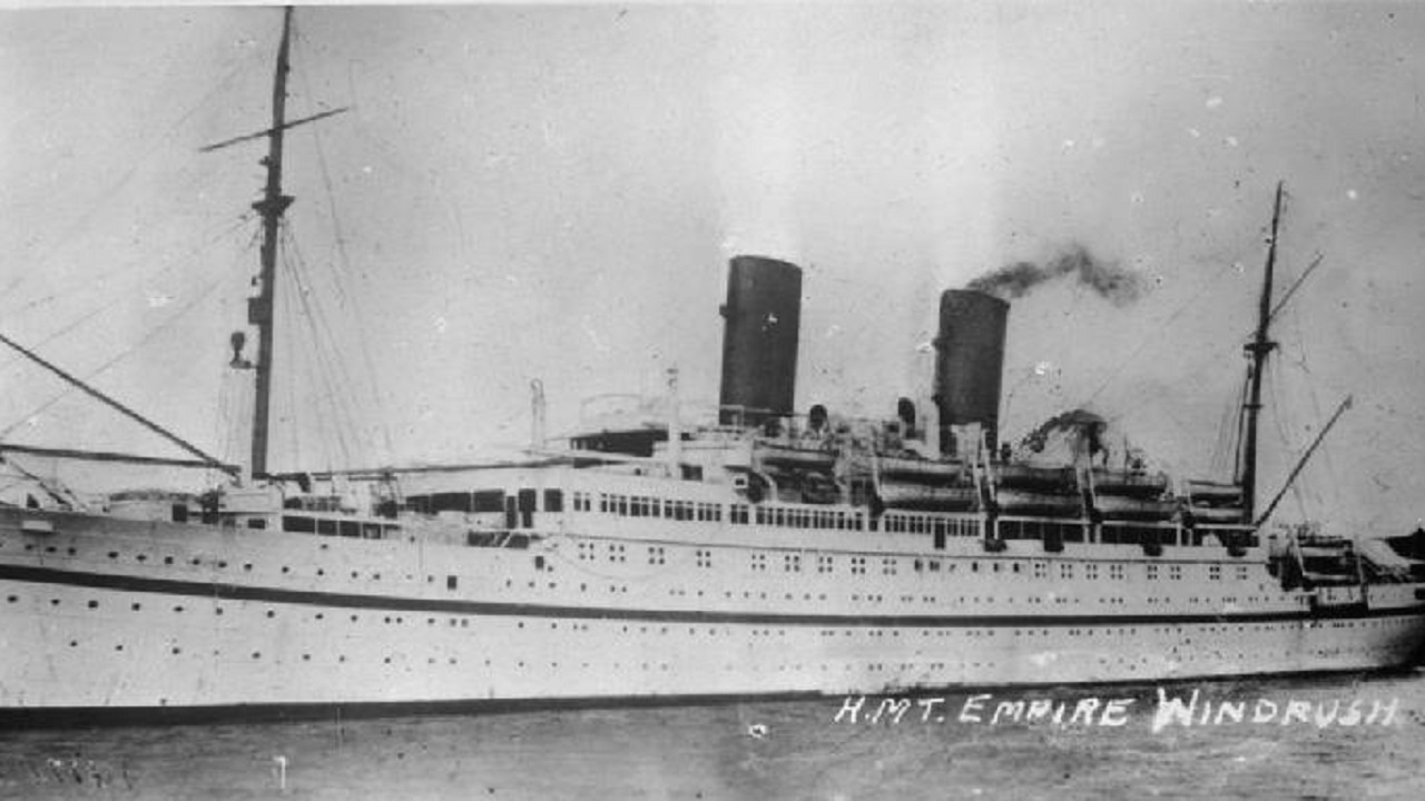 (Image: The Empire Windrush in undated image)