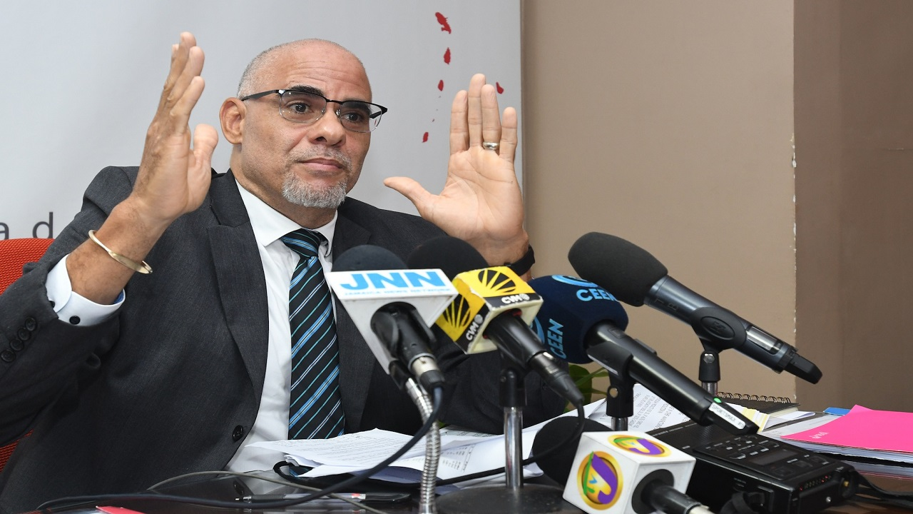 Speaking at EPOC's quarterly press briefing on Thursday, Duncan said he welcomed the policy position of enhancing Jamaica's fiscal responsibility framework through the concept of an independent fiscal council. (Photo: Collin Reid)