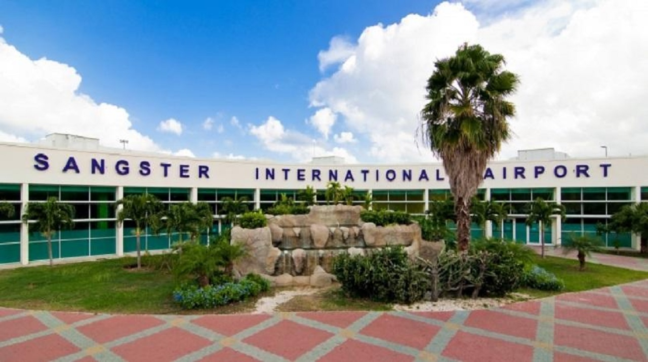 The Sangster International Airport in Montego Bay, St James, Jamaica