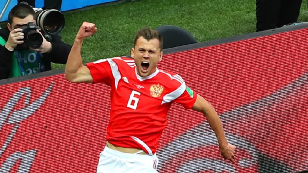 Russia international Denis Cheryshev.