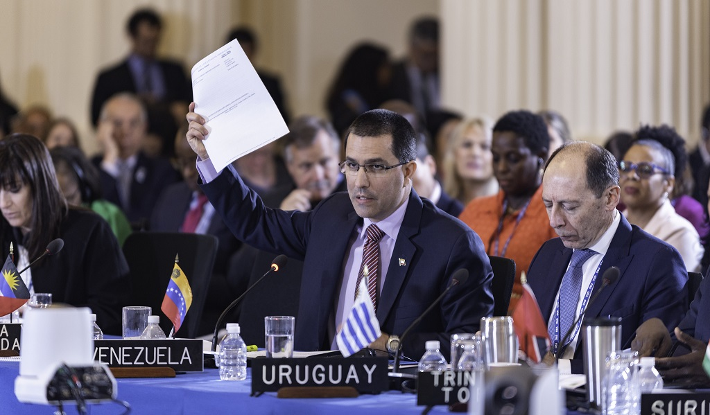 Photo: Second Day of the OAS 48th General Assembly on June 5, 2018, in Washington DC courtesy Juan Manuel Herrera/OAS