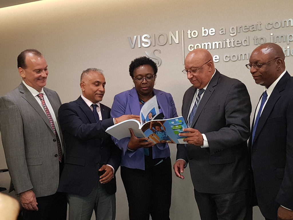 Senior execs at Sagicor look through the company's 2017 financial results.