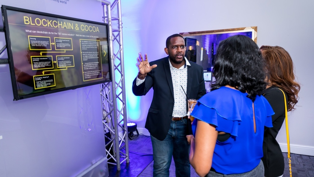 What digital solution can Blockchain provide for the Cocoa Industry? EY staff also got some insight at the Blockchain hub at the launch.
