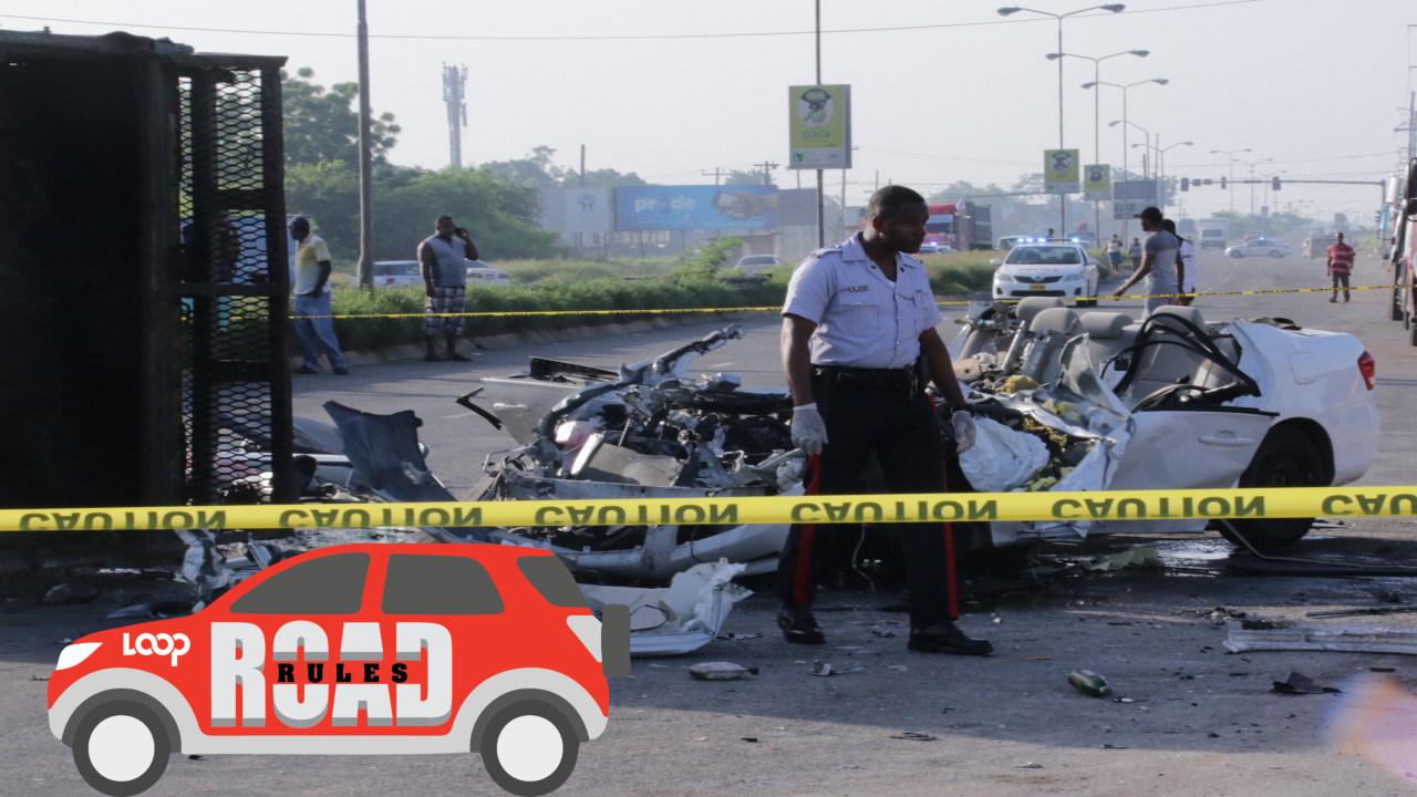 The scene of a fatal car crash on Spanish Town Road last year.