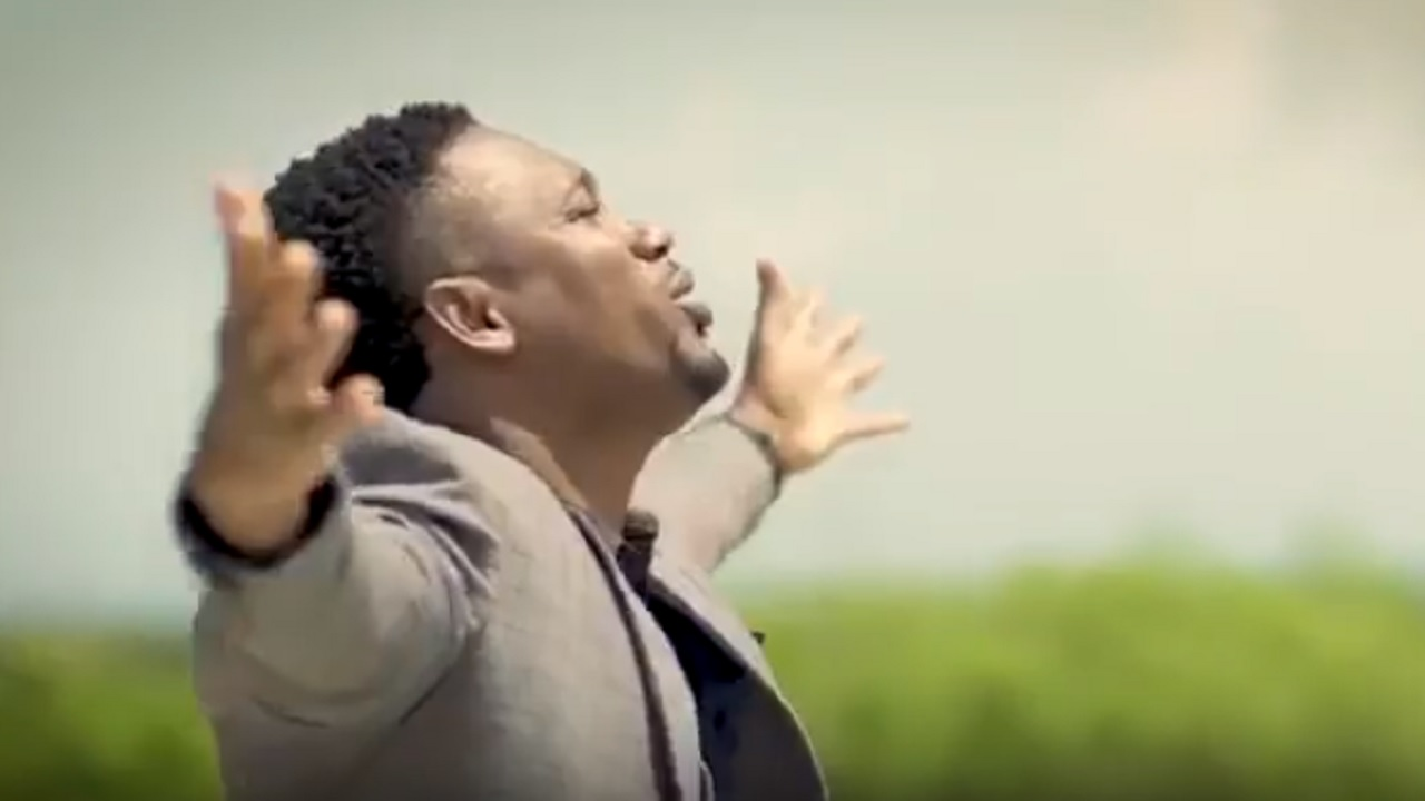 Chozenn in a screenshot of a video for his controversial 'Bawl Out' (Jesus Name) song.