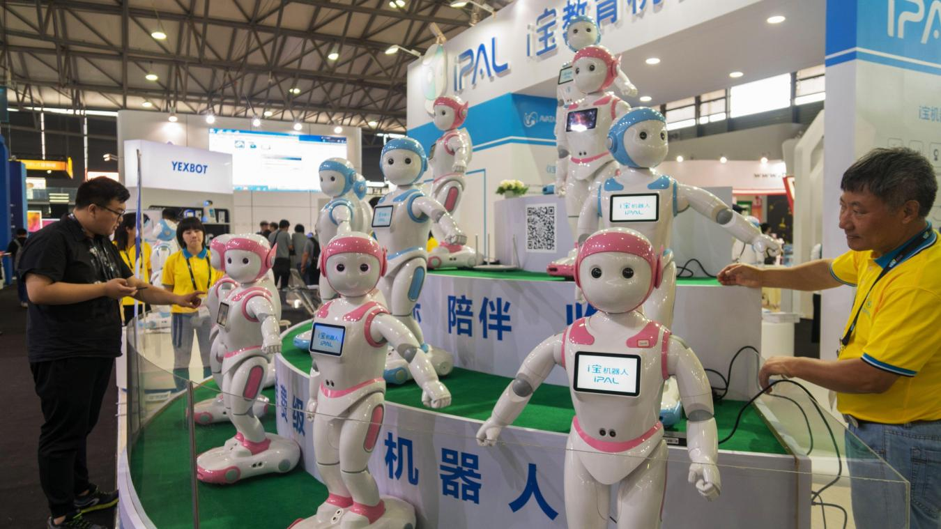 Des robots d'Avatarmind le 13 juin 2018 au Consumer Electronics Show (CES) de Shanghai. Photo: AFP