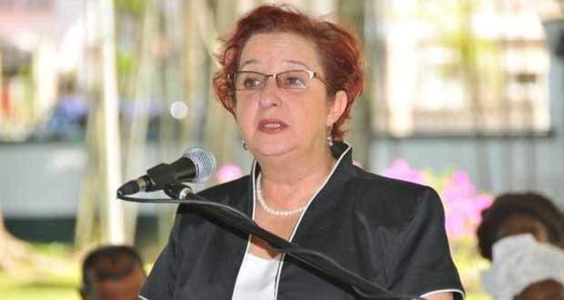 Gail Teixeira, membre du parlement de la République de Guyana.