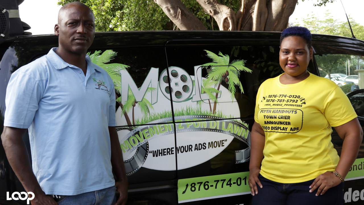 Fiona Ancel and Laurence Peart owners of Movementz Pon Di Lawn (MOL Mobile Advertising)