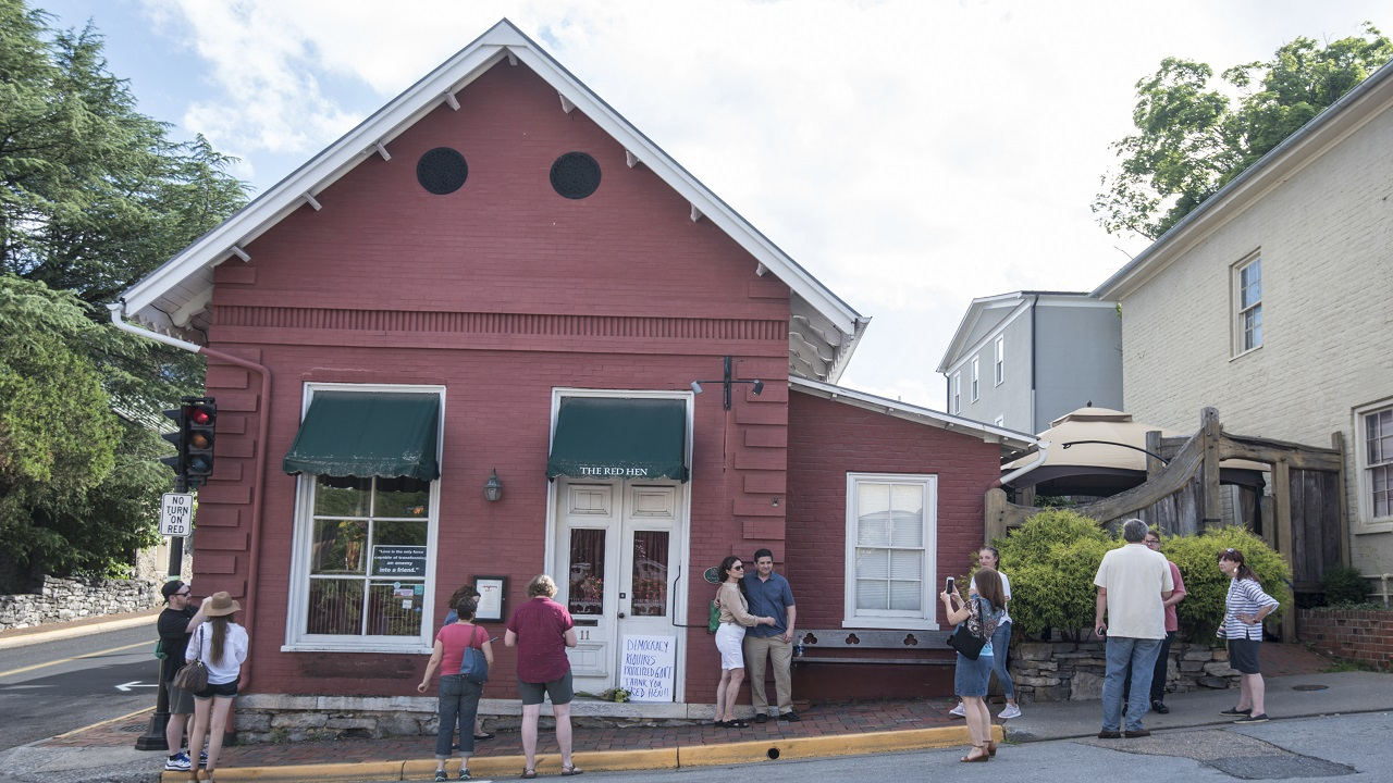 (Image: AP: The Red Hen restaurant in Lexington, Virginia)