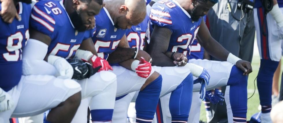 Le président républicain est en conflit ouvert depuis des mois avec les joueurs de football américain (NFL), qui protestent ainsi contre les violences raciales aux Etats-Unis. (Crédit photo : AFP)