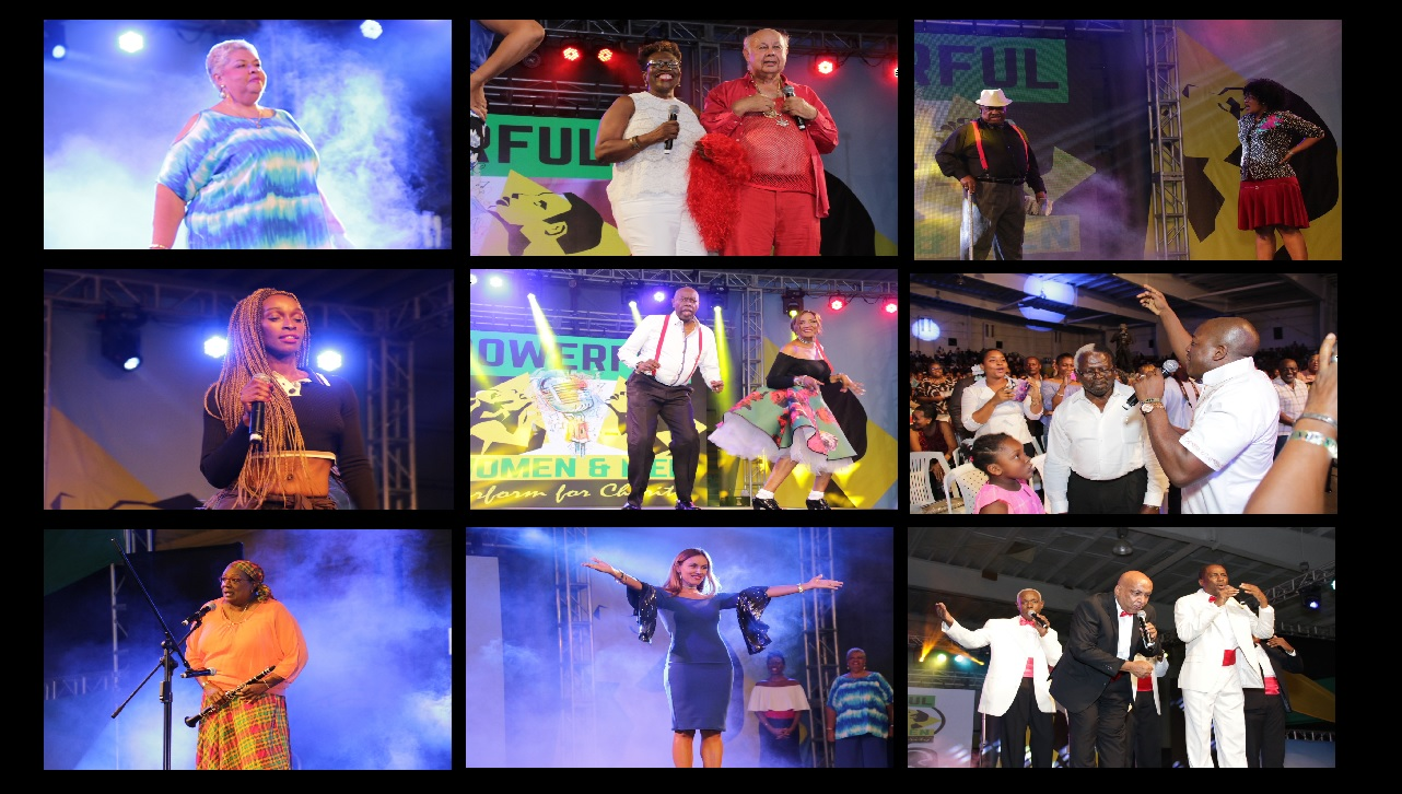 Photo collage of the Powerful Women & Men show last year.