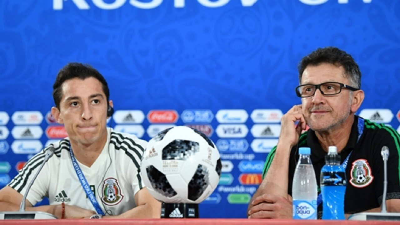 Mexico captain Andres Guardado (left) and coach Juan Carlos Osorio.