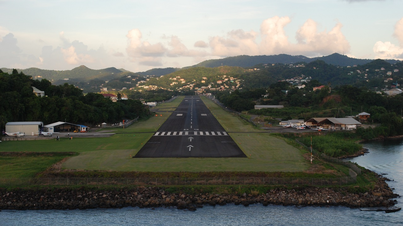 (Image: File image of George F.L. Charles Airport in Vigie by BCF via WikiCommons)