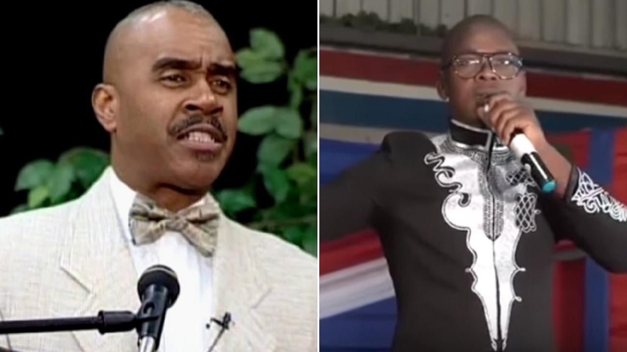 Pastor Gino Jennings (left) and Mr Vegas