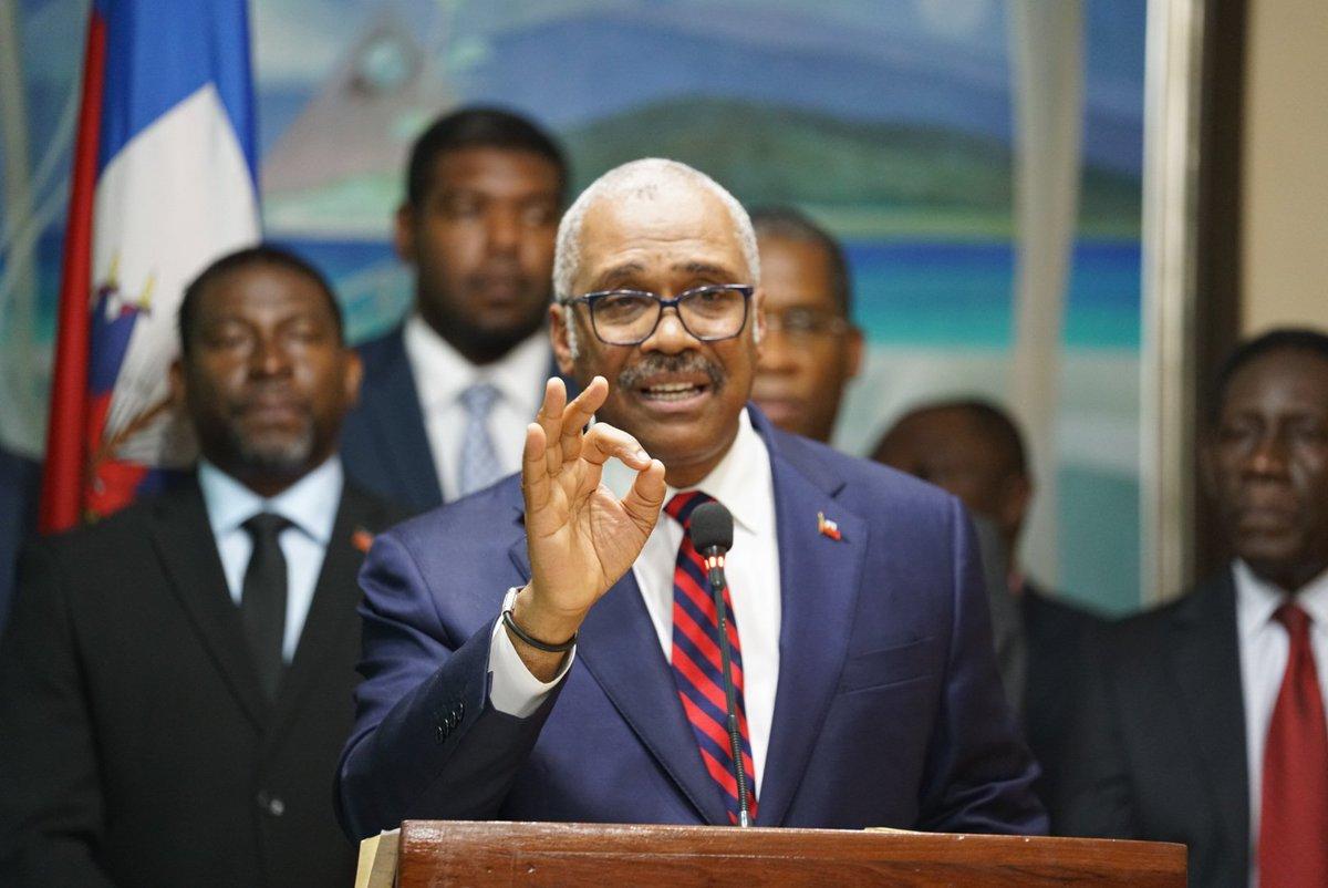 Le Premier Ministre haïtien, Jack Guy Lafontant