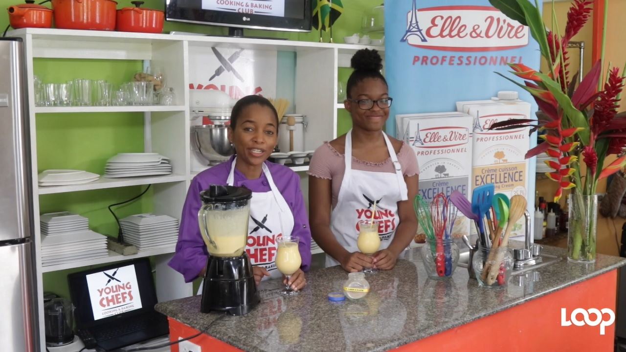 Chef Latoya Panton with Young Chef Rachel Rowe.