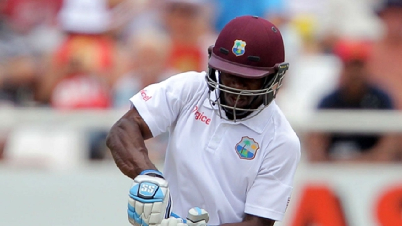 Devon Smith in action for West Indies.