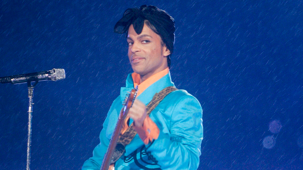 (Image: AP: Prince, performing on 4 February 2007)