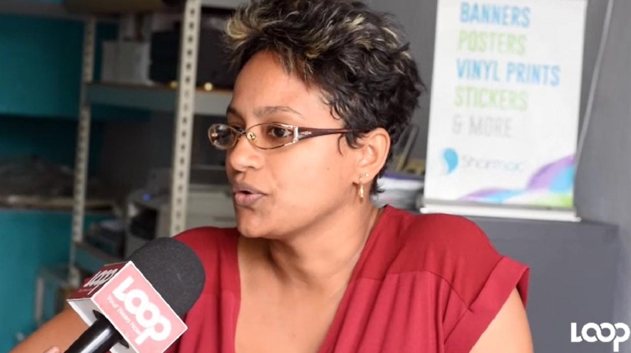 Sharika Sanders, managing director of Sharmac Graphics on Constant Spring Road, speaks with Loop News.