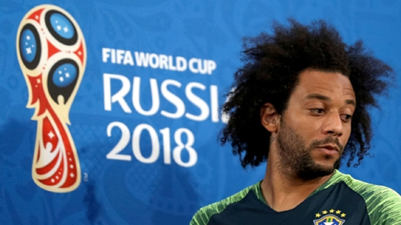 Marcelo appearing at a Brazil media conference.