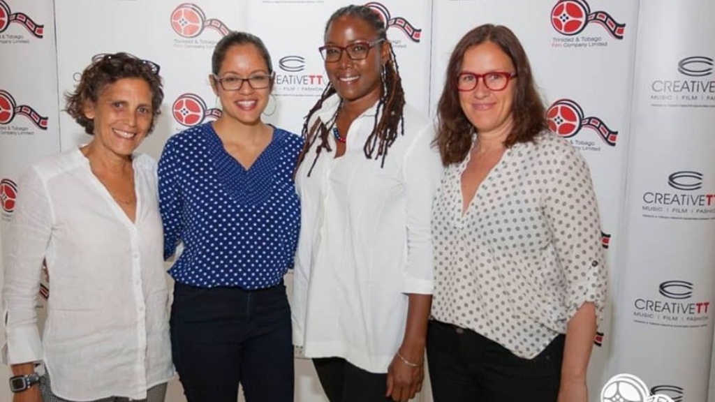 Abigail Hadeed, Teneille Newallo, FilmTT's General Manager, Nneka Luke, and Emilie Upczak.