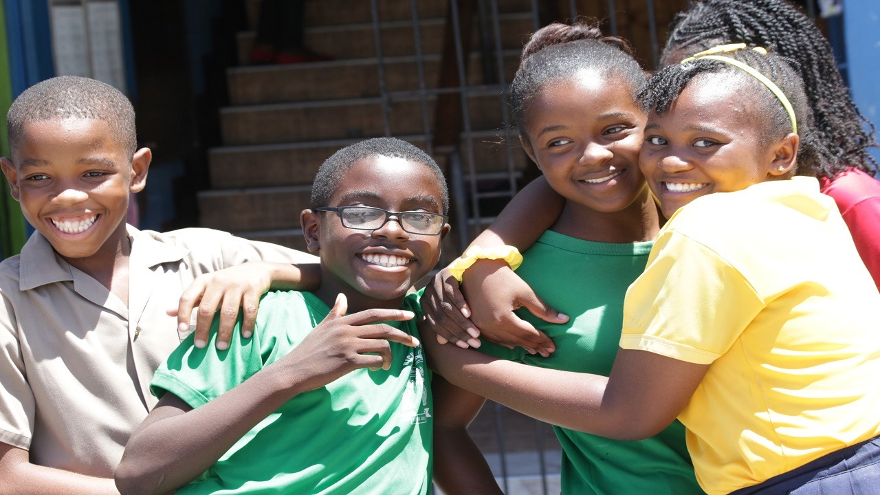 This Loop file photo shows students of St Richard's Primary School celebrate their GSAT results last year.