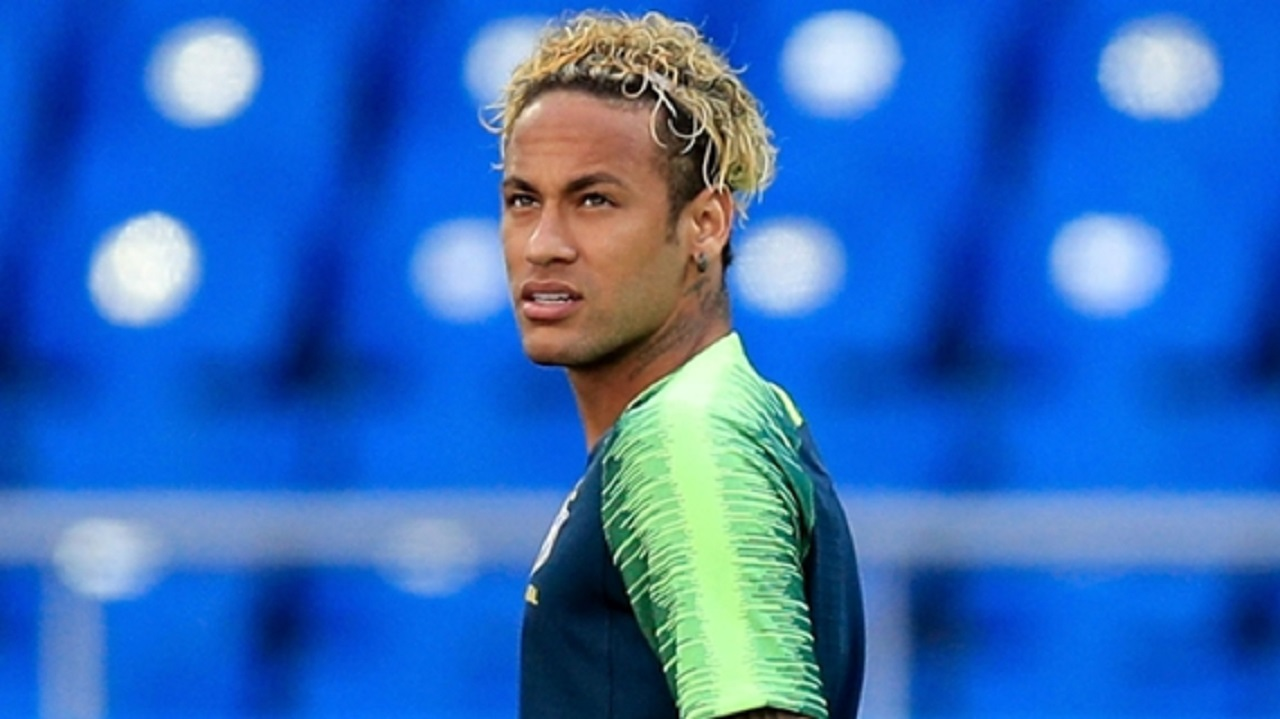 Neymar training in Rostov-on-Don.