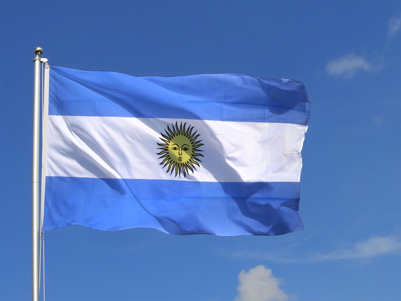 Le drapeau de l'Argentine