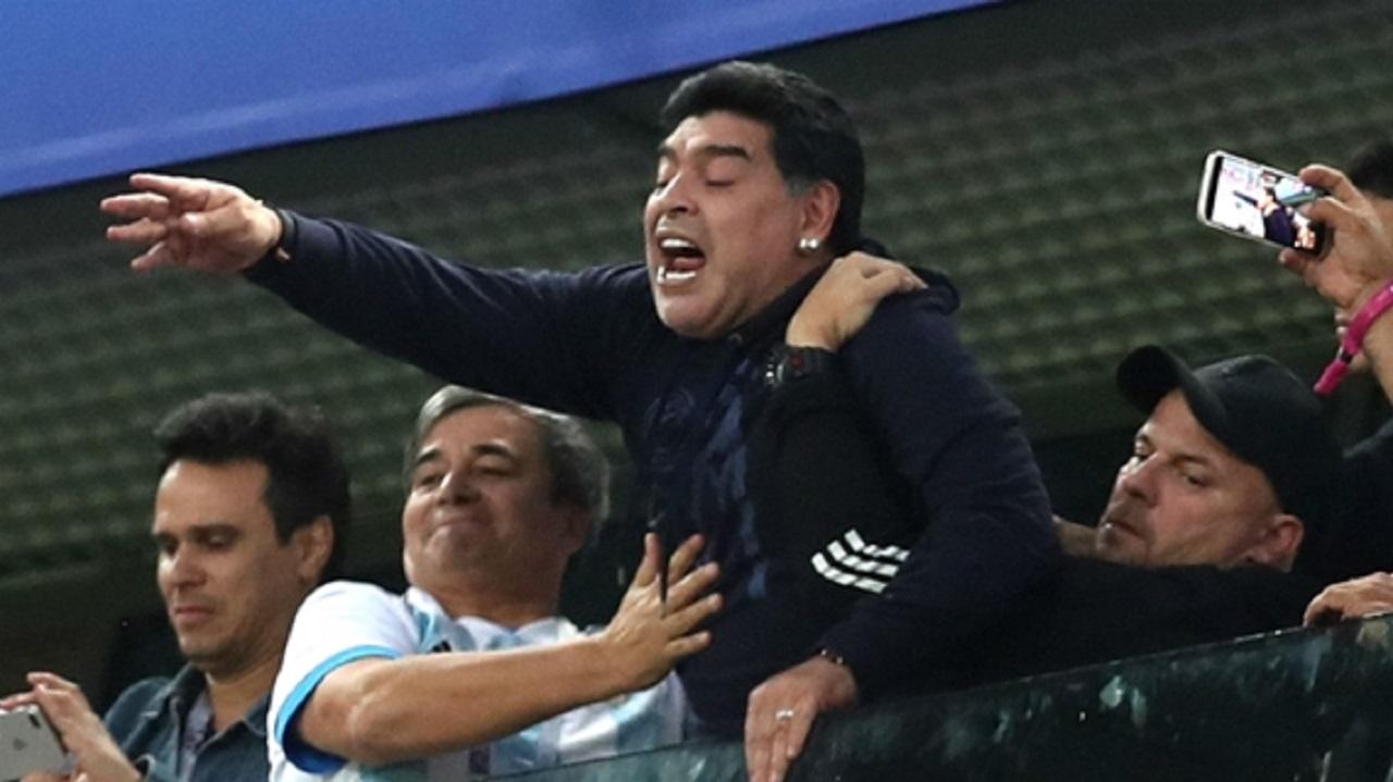 Argentina legend Diego Maradona.