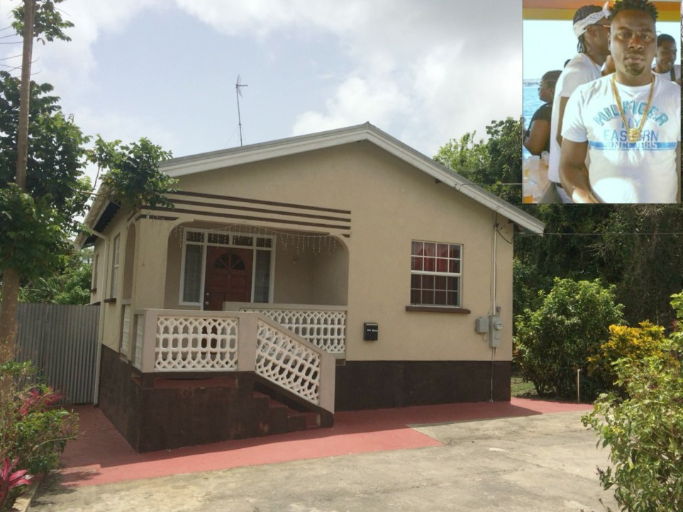 The Beckles Road home where the shooting incident occurred. (Inset: Renaldo Foster)