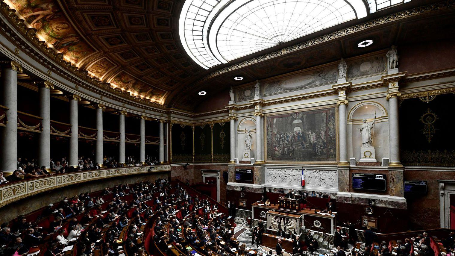 AFP/Archives / Philippe LOPEZ  L'hémicycle de l'Assemblée nationale, le 29 mai 2018