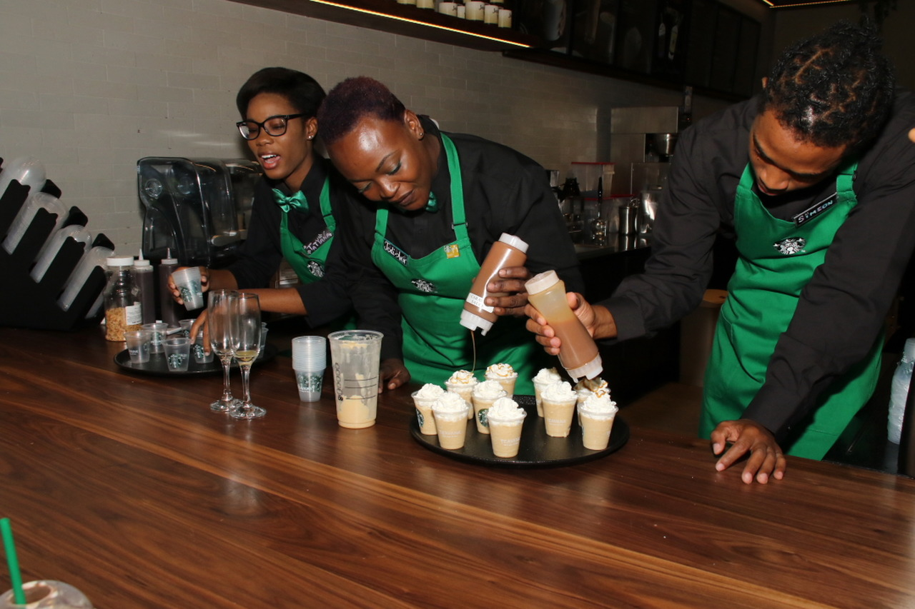 Nine more Starbucks stores are expected to open over the next five years with a focus on creating local jobs and investing in local communities. (Photos: Llewellyn Wynter)