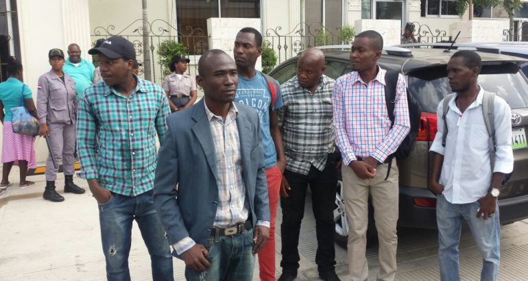 Manifestation des étudiants Haïtiens en Rep. Dominicaine. Photo: Noticias Telemicro