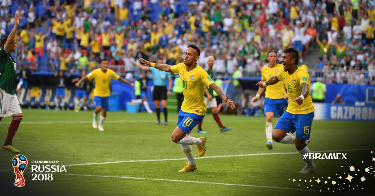 Les brésiliens ont battu les mexicains à un score de 2-0, lundi / Photo: FIFA