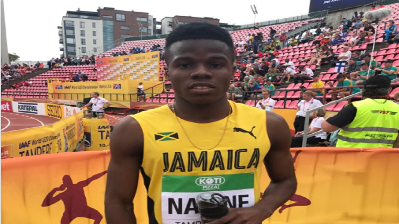 Jamaican Xavier Naire to compete in the men's 200m semi-finals later at the IAAF World Under-20 Championships in Tampere, Finland.