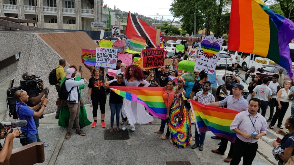 Photo: Supporters and members of the LGBTQI+ community celebrated on April 12, 2018, after Trinidad and Tobago's High Court ruled in a civil suit filed by activist Jason Jones that the country's laws criminalising gay sex are unconstitutional. A final ruling on the matter was scheduled for September 20, 2018.