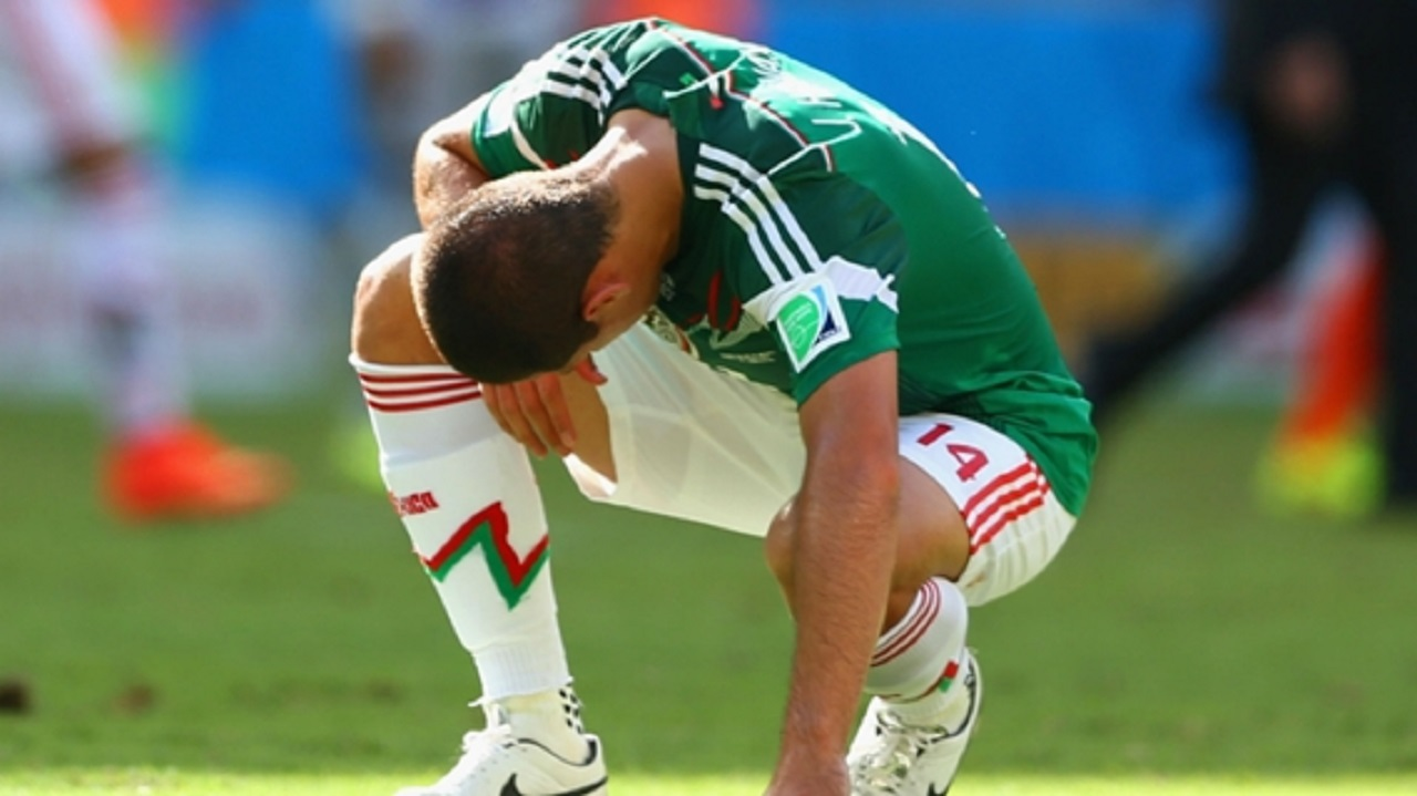 Javier Hernandez following Mexico's World Cup 2014 exit.